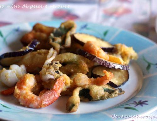 Fritto misto di pesce e verdure