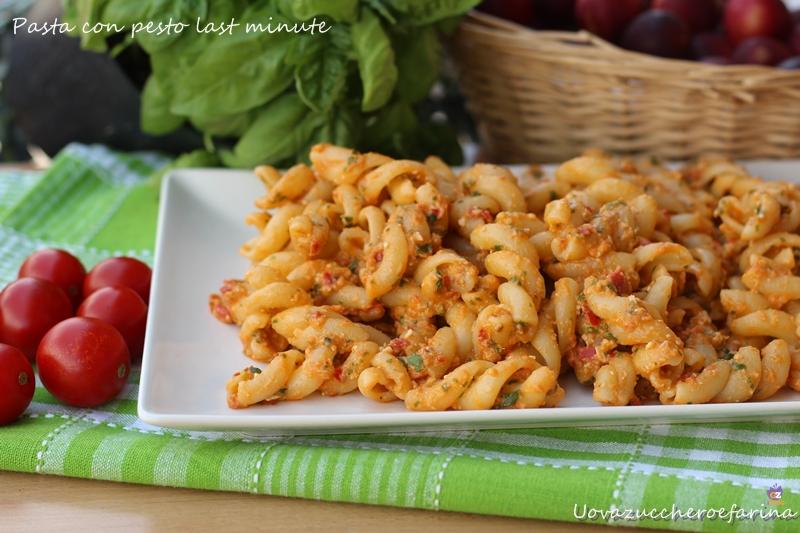 pasta con pesto last minute