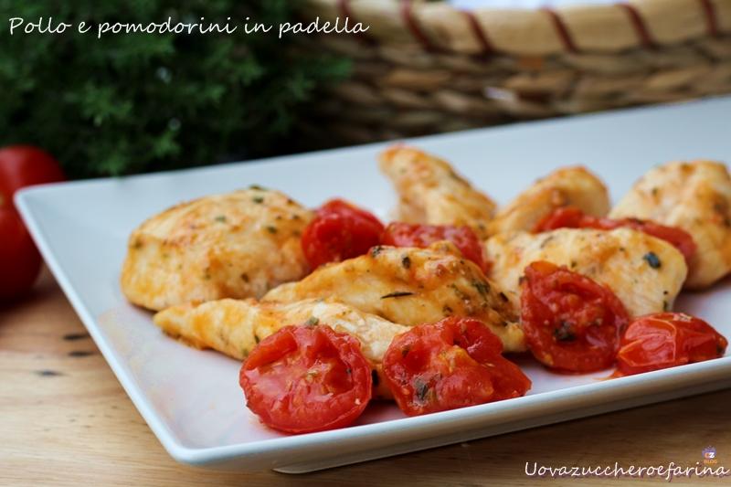 pollo e pomodorini in padella