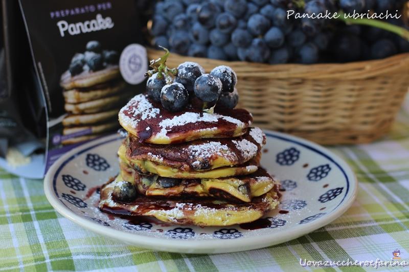pancake con uva fragola