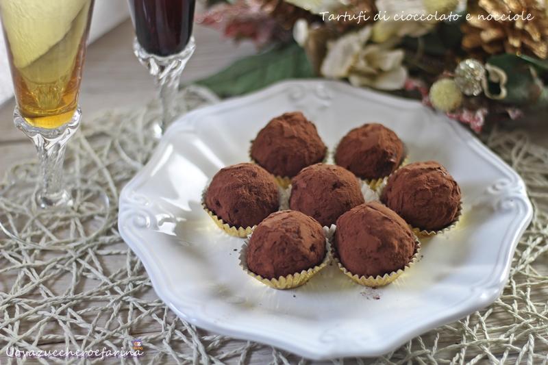 tartufi di cioccolato e nocciole