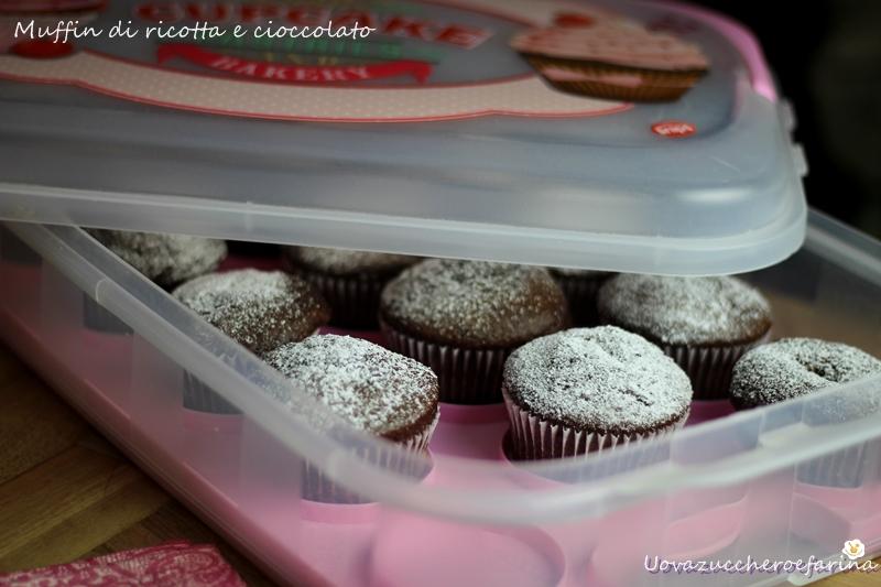 Muffin di ricotta e cioccolato