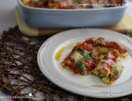 Cannelloni con pesto e pomodoro