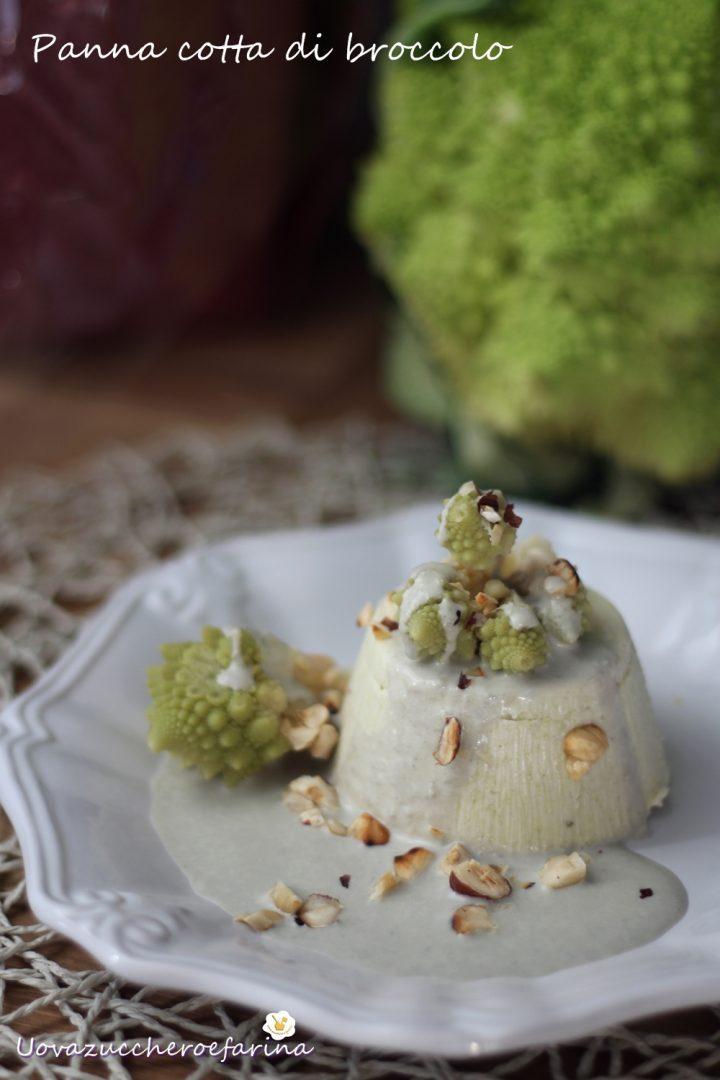 panna cotta di broccolo con salsa al gorgonzola