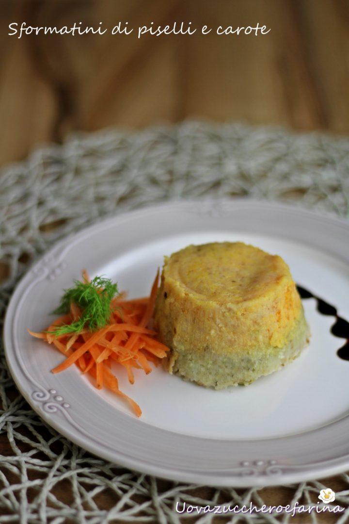 Sformatini di piselli e carote