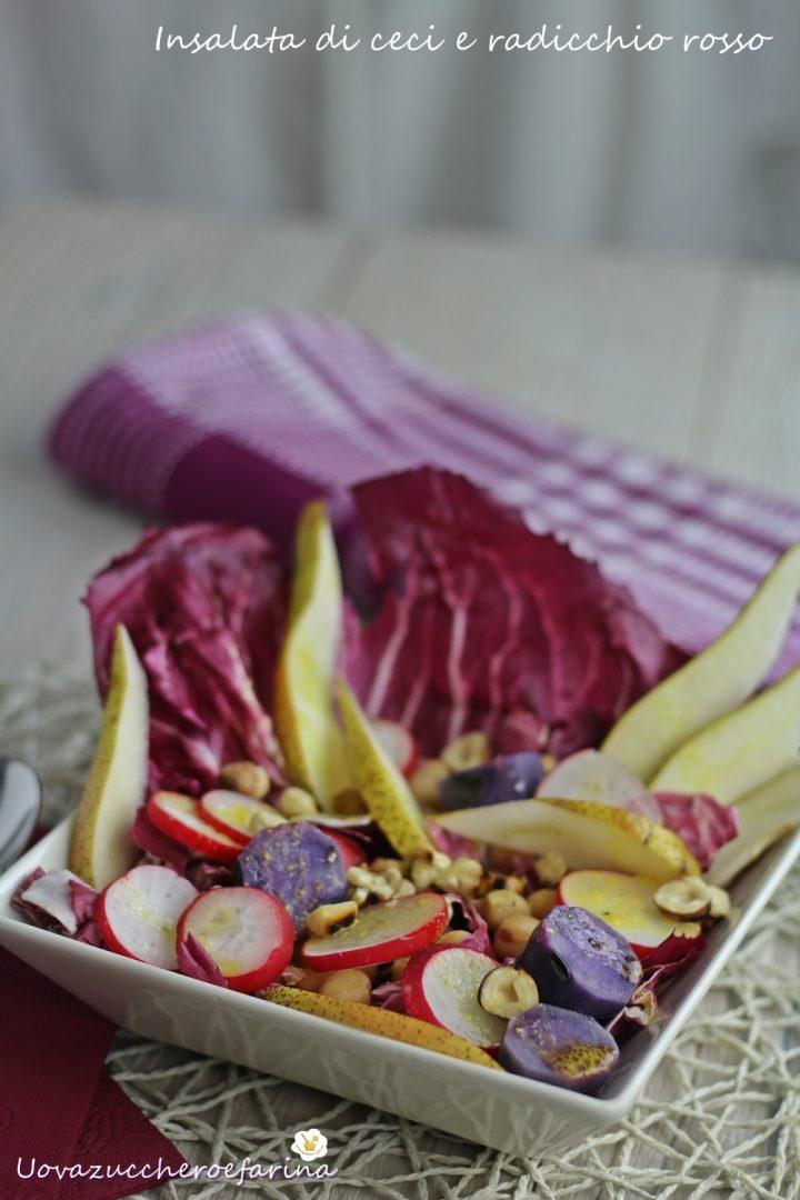 insalata ceci radicchio rosso patate viola
