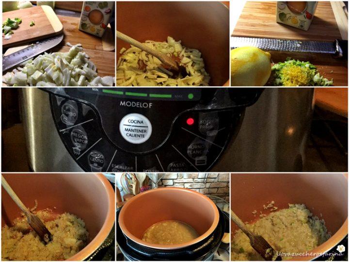 ricetta passo passo del risotto con finocchi e limone