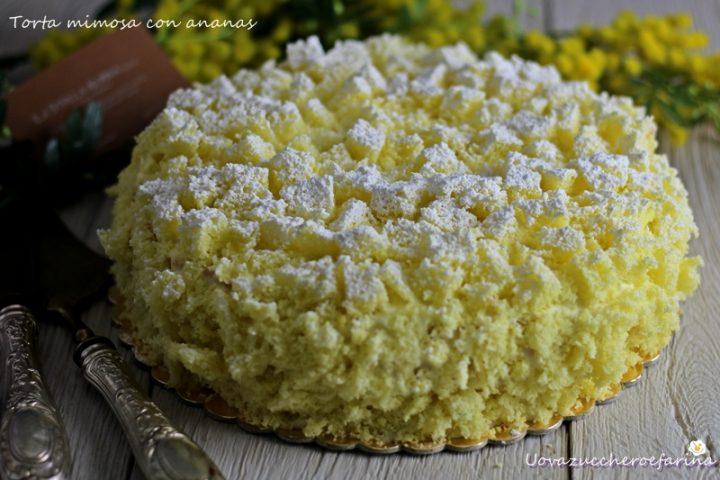 ricetta della torta mimosa con ananas senza liquore