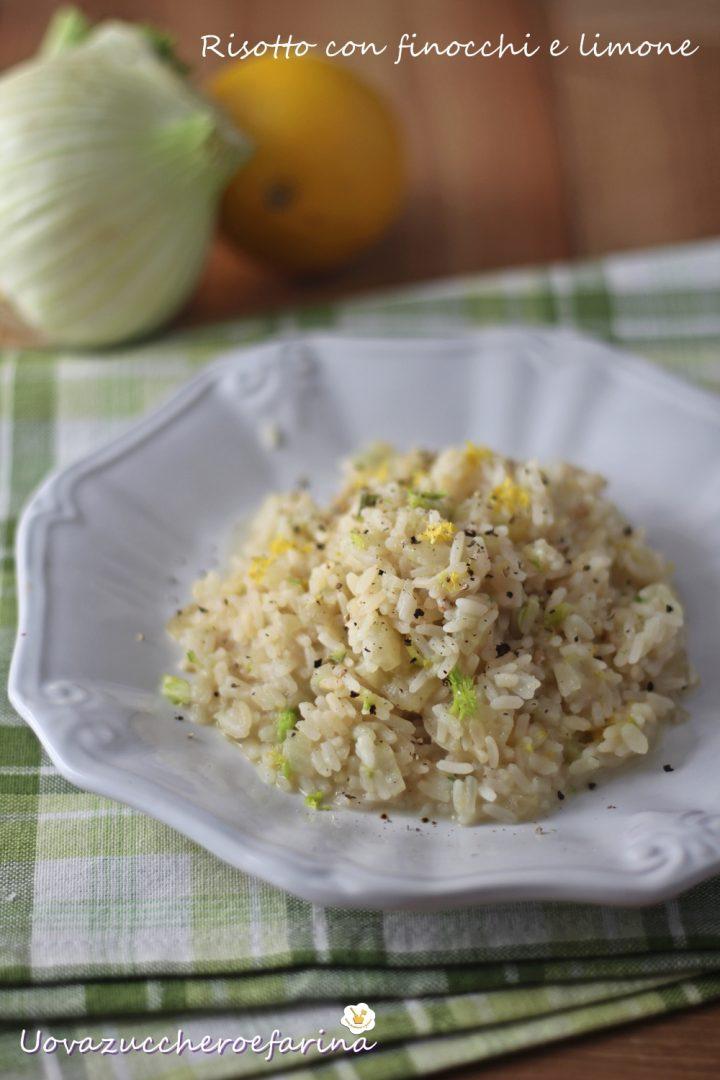 risotto con finocchi e limone ricetta light