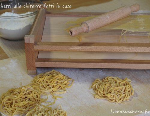 Come fare gli spaghetti alla chitarra con il telaio