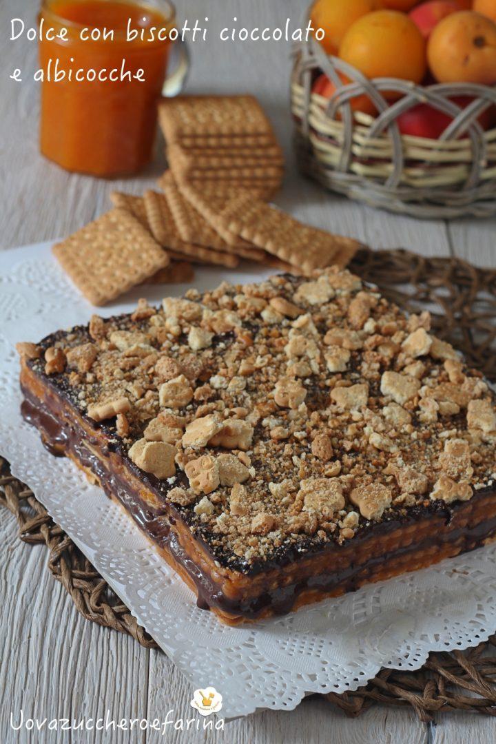dolce biscotti cioccolato albicocche composta