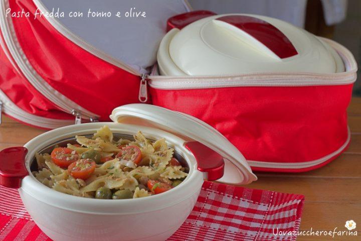 pasta fredda tonno olive contenitore termico mediterraneo