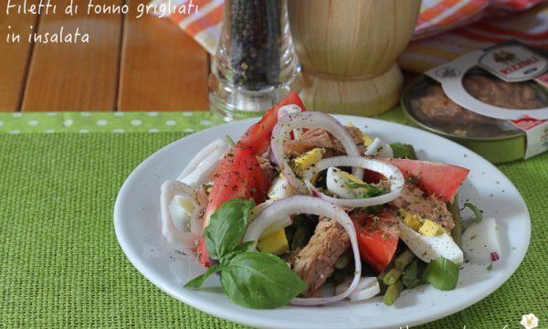 Filetti di tonno grigliati in insalata