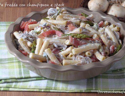 Pasta fredda con champignon e speck