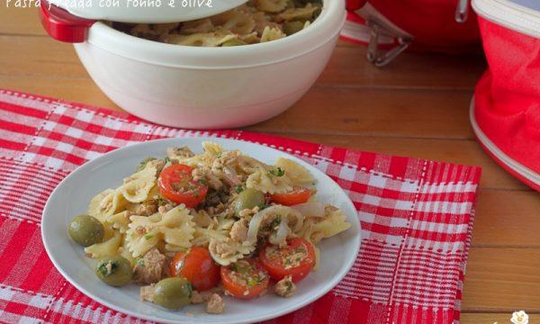 Pasta fredda con tonno e olive