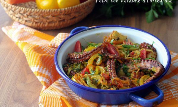 Polpo con verdure all'orientale
