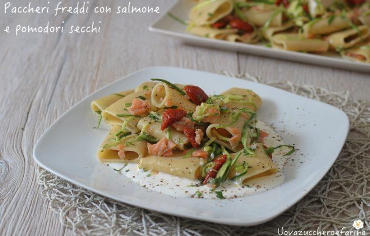 Paccheri freddi con salmone e pomodori secchi