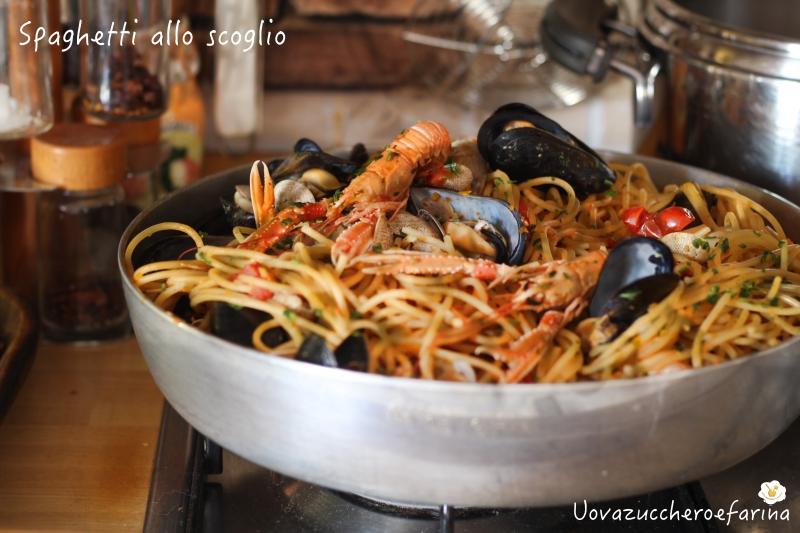 ricetta spaghetti scoglio cucina marinara