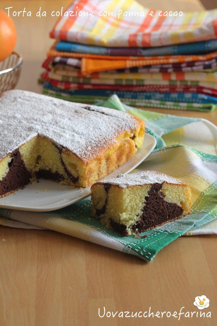 torta colazione panna cacao ricetta semplice