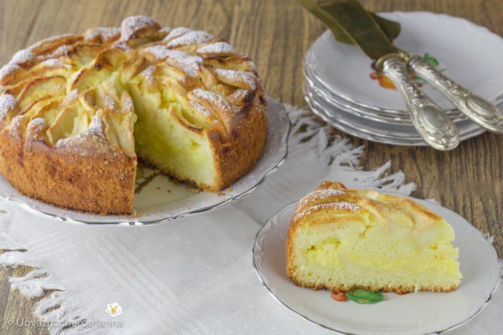 come fare ricetta torta facile mele crema pasticcera