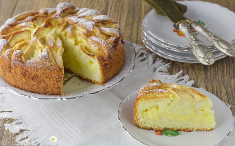Torta facile con mele e crema