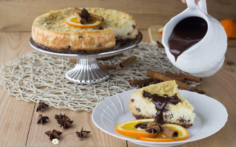 Cheesecake di ricotta e arancia