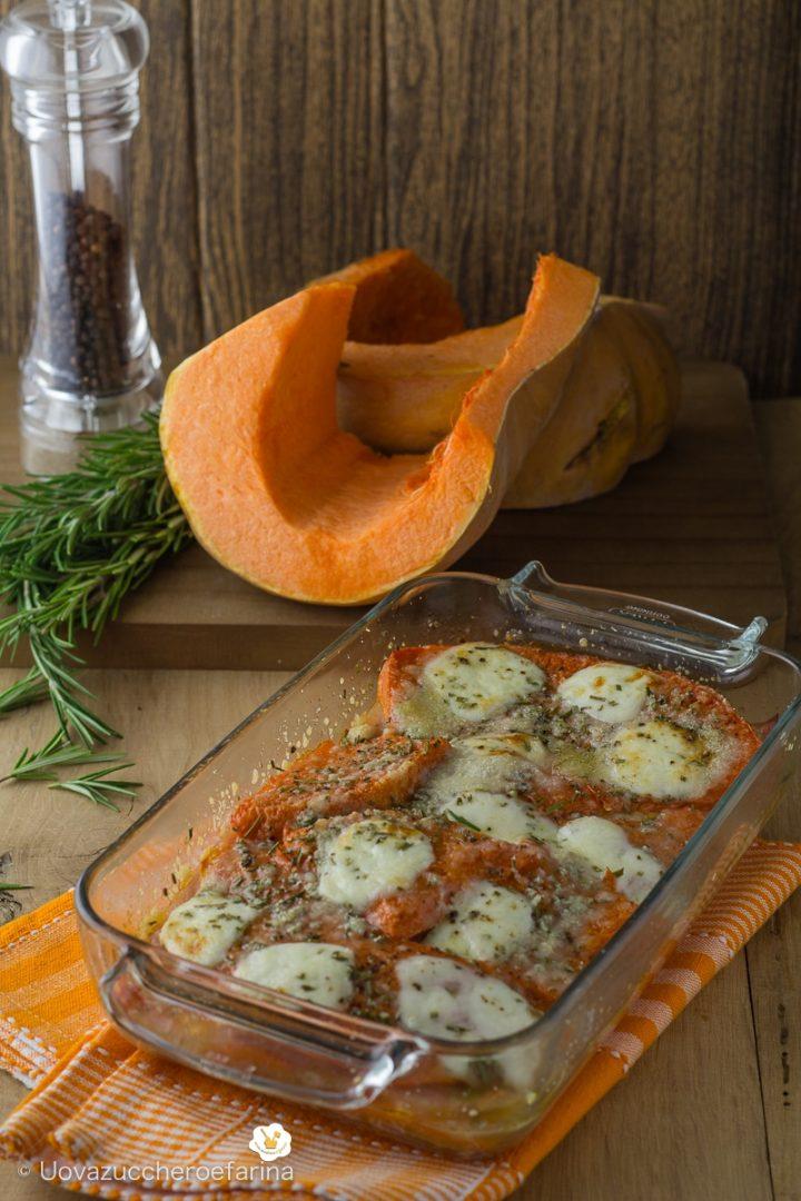 parmigiana zucca mozzarella prosciutto cotto