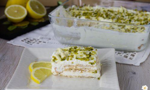 Tiramisù al limone pistacchi e cioccolato