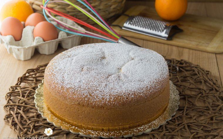 Torta all'arancia con crema all'arancia