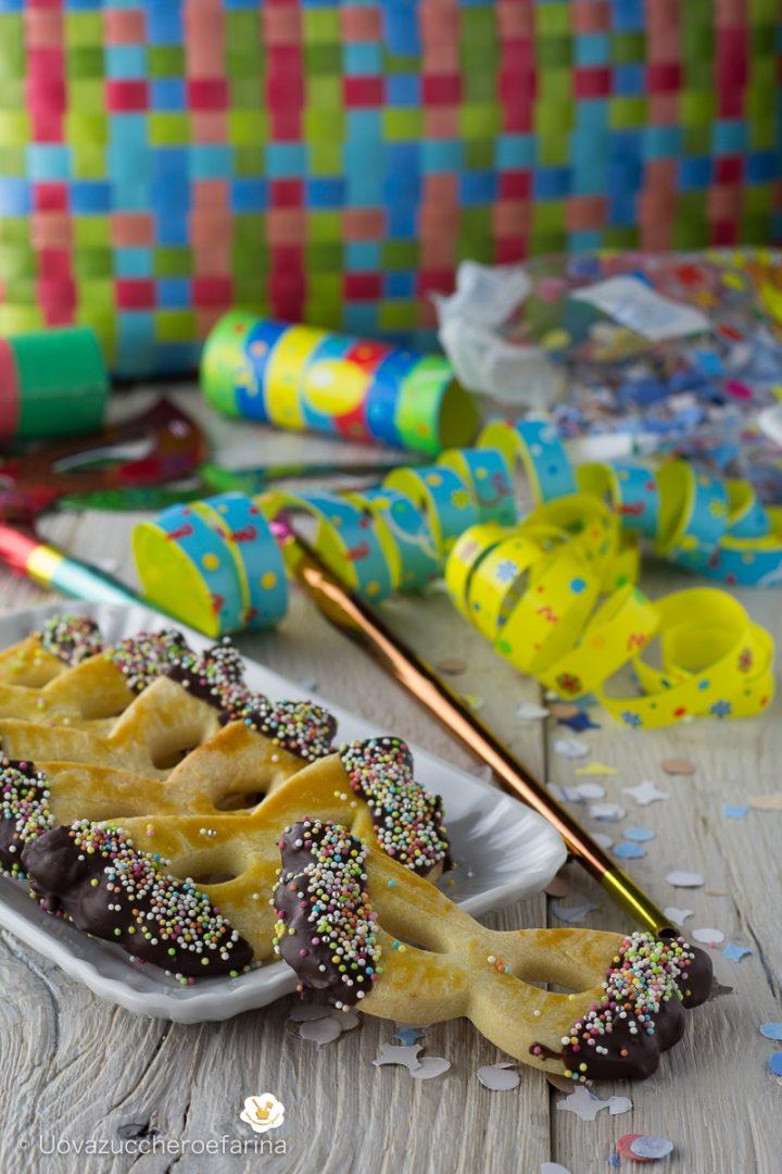 eccezionale gamma di stili e colori classico scarpe da corsa Mascherine di Carnevale di pasta frolla