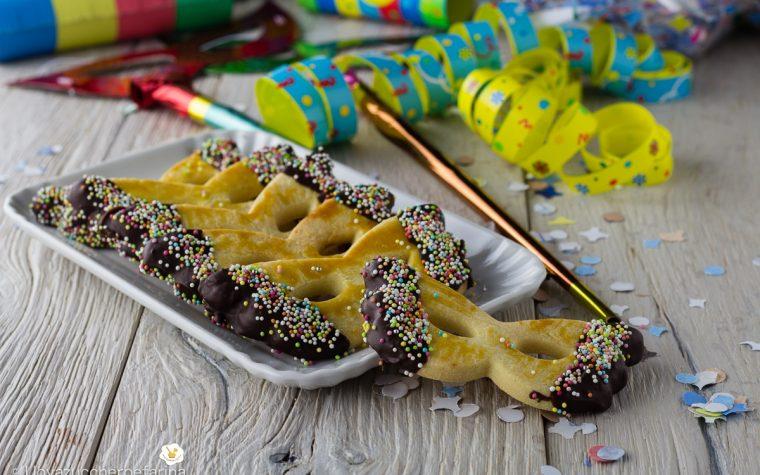 Mascherine di Carnevale di pasta frolla