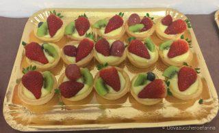 idee buffet compleanno crostatine pasta frolla frutta fresca