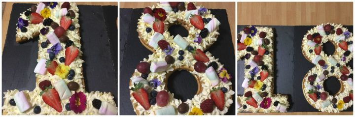 ricetta torta 18 anni cream tart fiori frutta