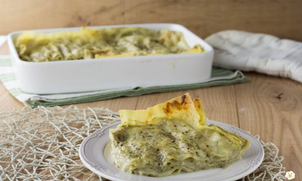 Lasagne con crema di carciofi
