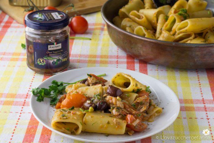 ricetta paccheri sgombri olive taggiasche italiamo lidl