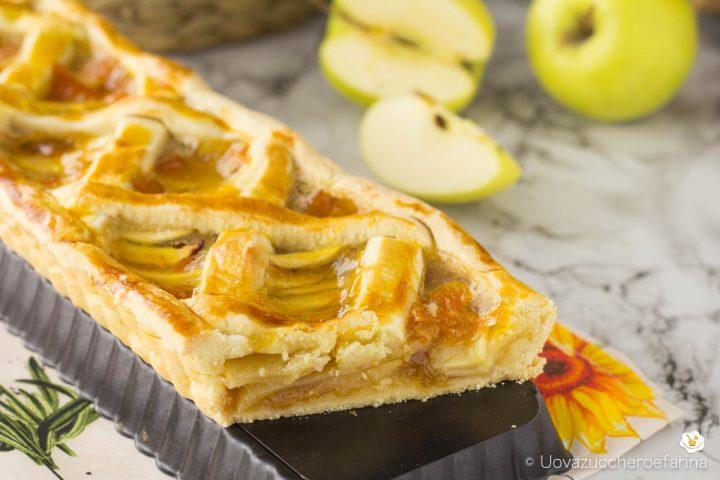 come fare ricetta crostata semplice mele confettura