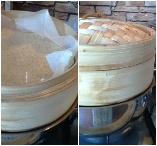 pomodori ripieni riso gamberetti cottura vaporiera bambu