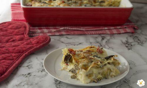 Lasagne veloci con verdure grigliate