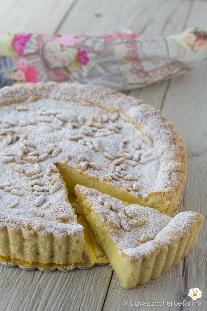 torta nonna semplice buona crema pasticcera