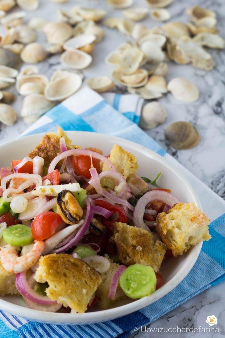 panzanella croccante mare ricetta toscana