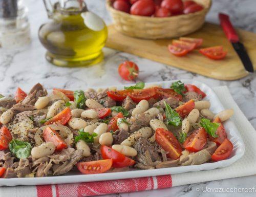 Lesso in carpione con fagioli e pomodorini
