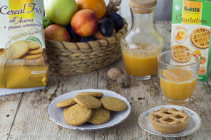Giusto senza glutine Giuliani celiachia alimentazione prima colazione crostatine biscotti