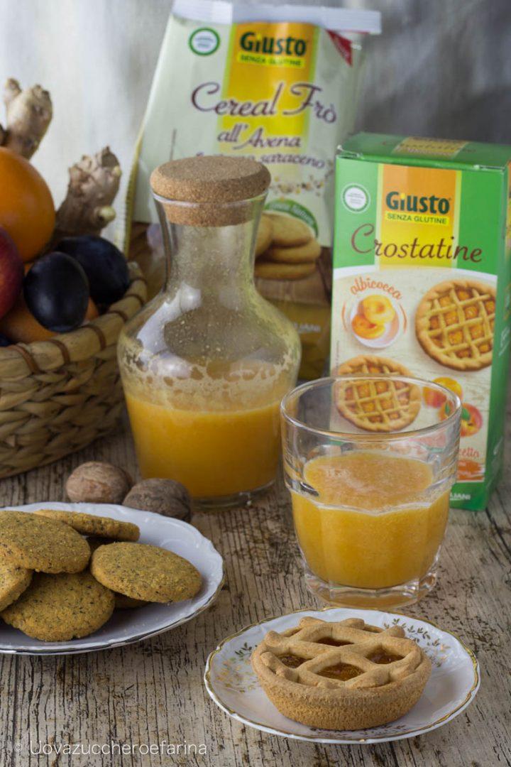 Giusto senza glutine celiachia alimentazione prima colazione crostatine biscotti
