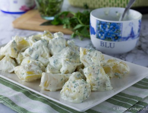 Patate con dressing allo yogurt