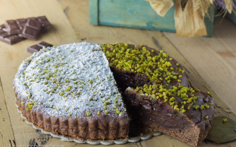 Torta del nonno al cioccolato e pistacchi