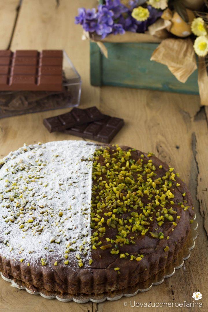 torta nonno cioccolato pistacchi uovazuccheroefarina