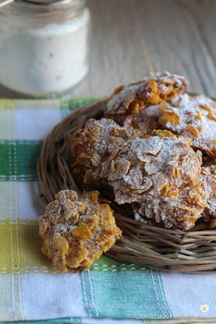 biscotti corn flakes rose deserto uvetta pinoli