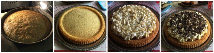 crostata morbida pere mascarpone passo passo finitura crema pere cioccolato