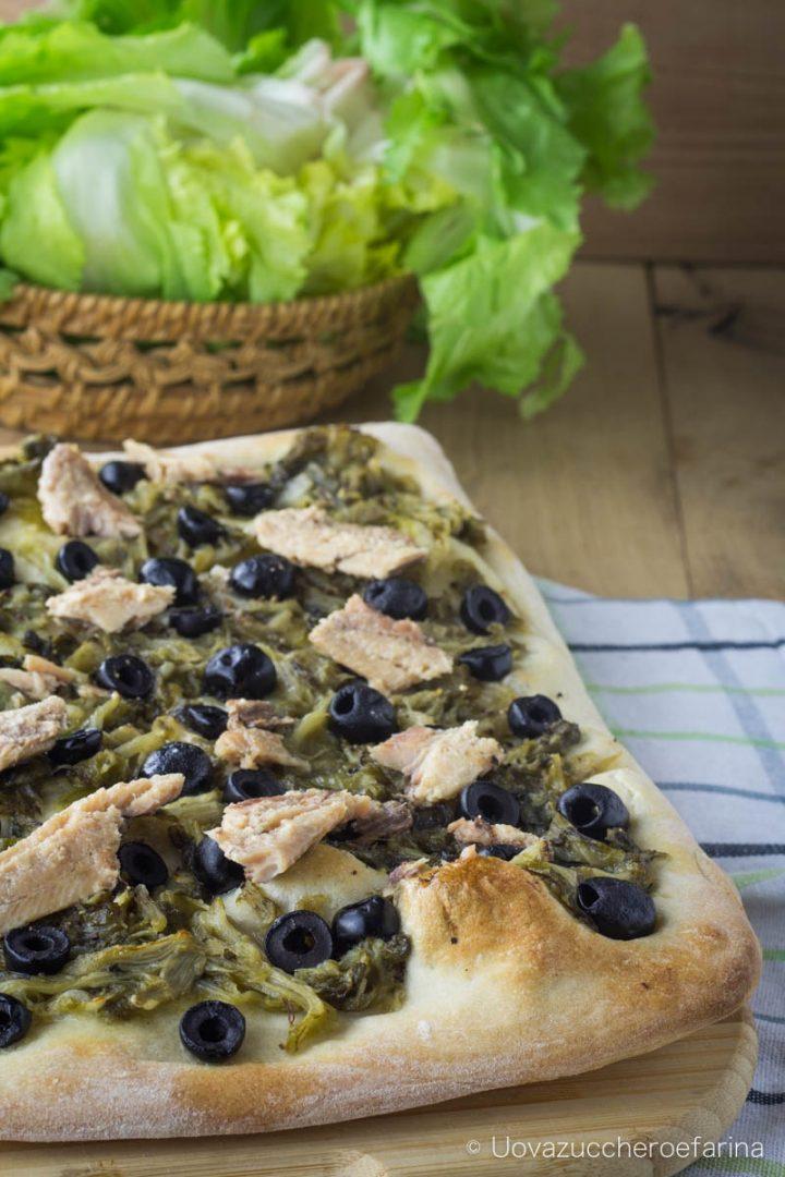 focaccia scarola sardine olive nere ricetta facile