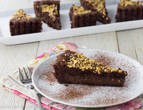 Crostata al cacao e crema al cioccolato